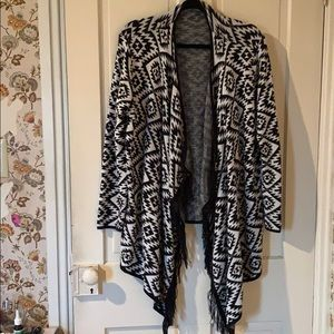 Aztec Cardigan with fringe